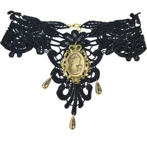 Black & Gold Victorian Choker