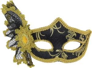 Gold & Black Venetian Masquerade Mask