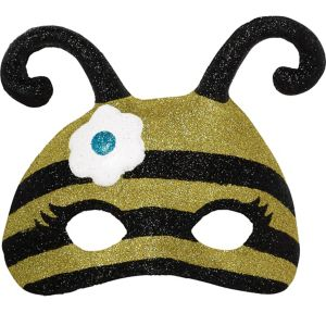 Child Glitter Bumble Bee Mask