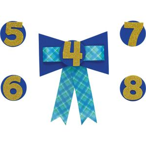 Personalized Blue Birthday Award Ribbon