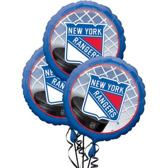 New York Rangers Balloons 3ct