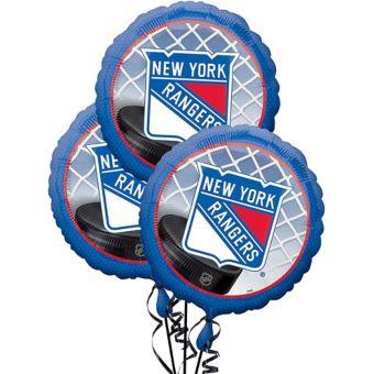 New York Rangers Balloons 3ct