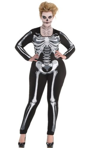 Black & Bone Catsuit Plus Size - Skeleton