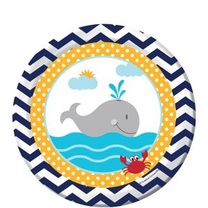Ahoy Nautical Dessert Plates 8ct