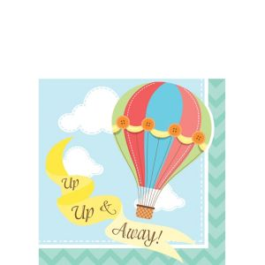 Up & Away Baby Shower Beverage Napkins 16ct