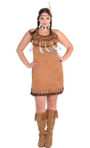 Native American Fringe Dress Plus Size