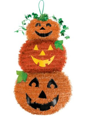 Tinsel Stacked Jack-o'-Lantern Sign