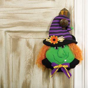 Plush Friendly Witch Door Hanger
