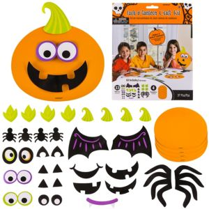 jack o lantern craft kit for 4