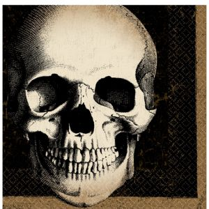 Boneyard Skull Beverage Napkins 125ct