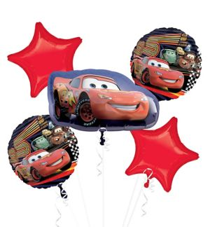 Lightning McQueen Balloon Bouquet 5pc - Cars
