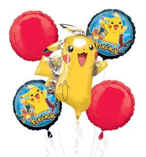 Pikachu Balloon Bouquet 5pc - Pokemon