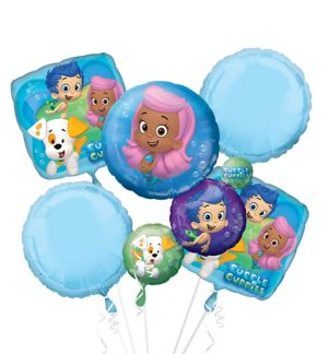 Bubble Guppies Balloon Bouquet 5pc