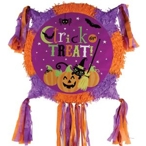 Pull String Witch S Crew Halloween Pinata 17 1 2in X 17 1 2in Party City