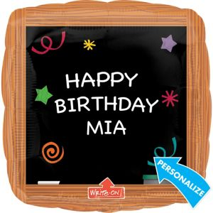 Chalkboard Balloon - Personalized