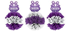 Cheer Fluffy Decorations 3ct
