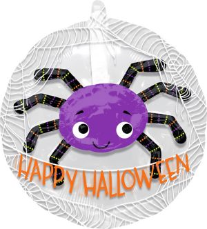 Purple Spider Balloon - See Thru