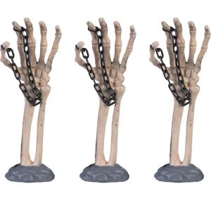 Skeleton Hand Yard Stakes 3ct