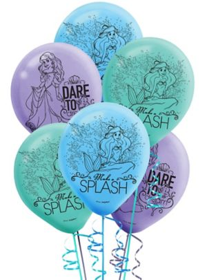 Little Mermaid Balloons 6ct