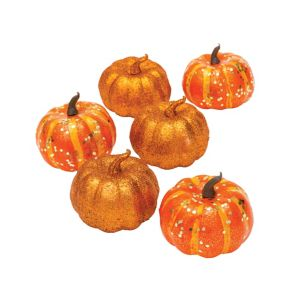 Glitter Mini Pumpkins 6ct