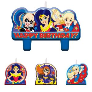DC Super Hero Girls Birthday Candles 4ct
