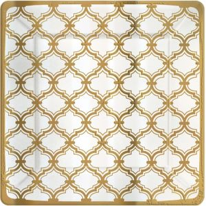 Metallic Gold Moroccan Dinner Plates 8ct