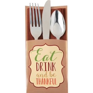 Thanksgiving Cutlery Holders 12ct