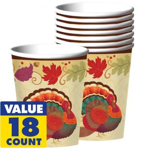 Thanksgiving Holiday Cups 18ct