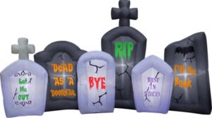 Light-Up Inflatable Tombstone Scene