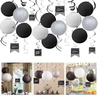 Black & White Ceiling Decorating Kit