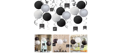 Black & White Ceiling Decoration Kit