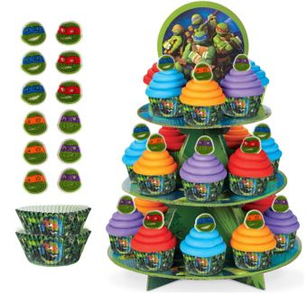 Deluxe Teenage Mutant Ninja Turtles Cupcake Kit for 24