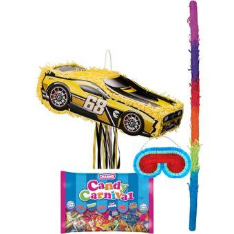 Yellow Race Car Pinata Kit - Hot Wheels