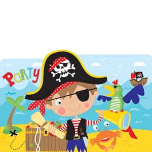 Little Pirate Invitations 8ct