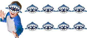 Shark Masks 8ct - Under the Sea Birthday
