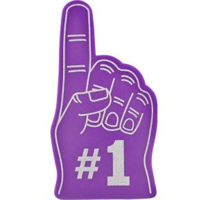 Purple #1 Foam Finger