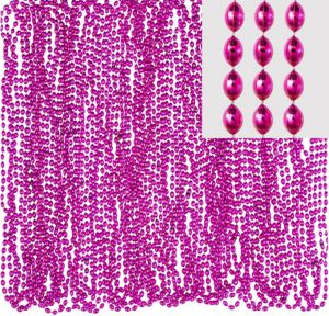 Pink Bead Necklaces 24ct