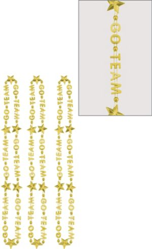 Gold Go Team Bead Necklaces 3ct