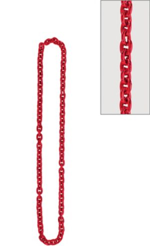 Red Chain Link Necklace