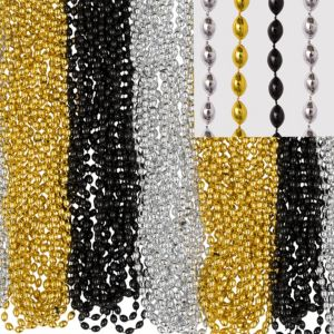 Black, Gold & Silver Bead Necklaces 100ct