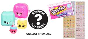 Shopkins Charm & Petkin Backpack Mystery Pack 2ct