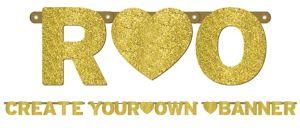 Glitter Gold Letter Banner Kit
