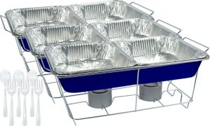 Royal Blue Chafing Dish Buffet Set 24pc