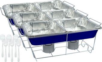 Royal Blue Chafing Dish Buffet Set 24pc