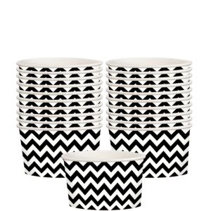 Black Chevron Paper Treat Cups 20ct