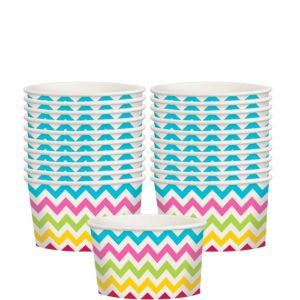 Bright Rainbow Chevron Paper Treat Cups 20ct