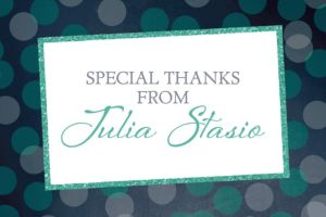 Custom Glitter Mint Frames and Dots Graduation Thank You Note