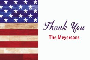Custom Rustic Americana Thank You Note