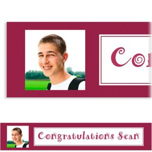 Custom Classic Berry Graduation Photo Banner