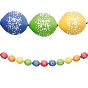 Rainbow Birthday Balloon Garland